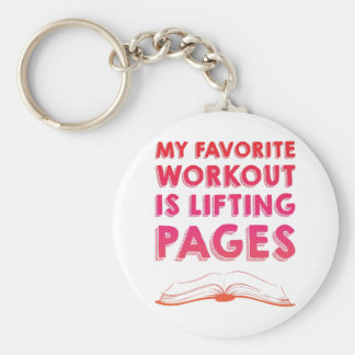 Lifting Pages Basic Round Button Keychain