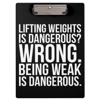 Lifting Weights Is Dangerous vs Being Weak - Gym Clipboard