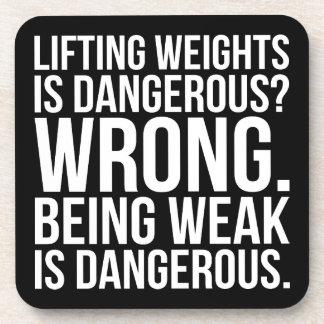 Lifting Weights Is Dangerous vs Being Weak - Gym Coaster