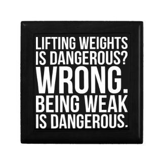 Lifting Weights Is Dangerous vs Being Weak - Gym Gift Box