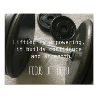 Lifting Weights is Empowering Poster