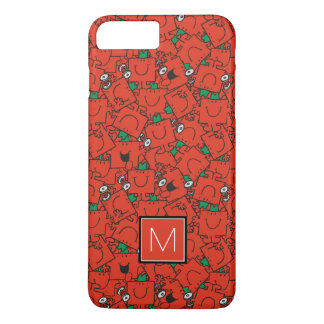 Lifting Weights Red & Green Pattern | Monogram iPhone 7 Plus Case