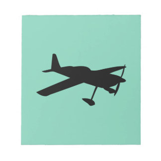 light aircraft plane notepad