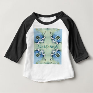 Light Airy 'Live Life Simply Lifestyle Baby T-Shirt