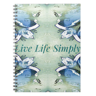 Light Airy 'Live Life Simply Lifestyle Notebooks