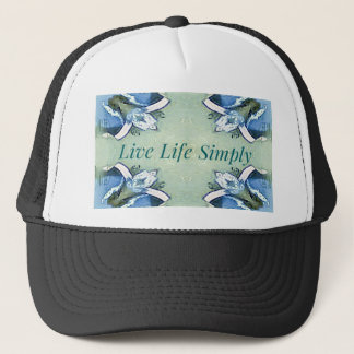 Light Airy 'Live Life Simply Lifestyle Trucker Hat