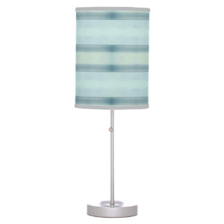 Light Airy Modern Blue Tone Stripes Table Lamp