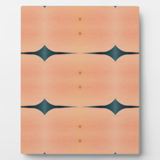 Light Airy Modern Peach Pattern Plaque
