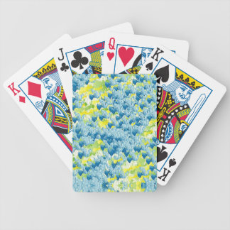 Light Airy Modern Random Abstract Bicycle Playing Cards