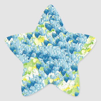 Light Airy Modern Random Abstract Star Sticker
