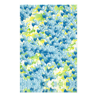 Light Airy Modern Random Abstract Stationery Paper