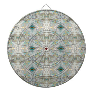 Light Airy pastel  patterns Dartboard
