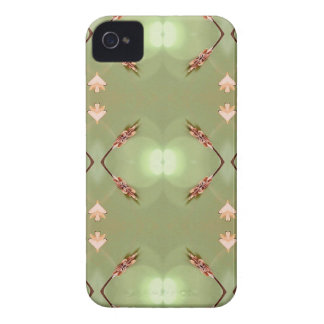 Light Airy Peach Lime Artistic Pattern iPhone 4 Cover