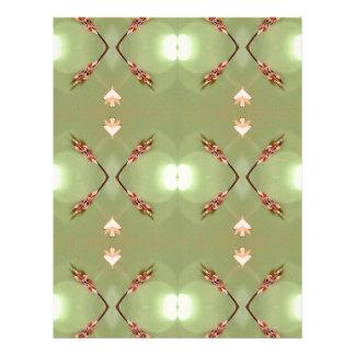 Light Airy Peach Lime Artistic Pattern Letterhead