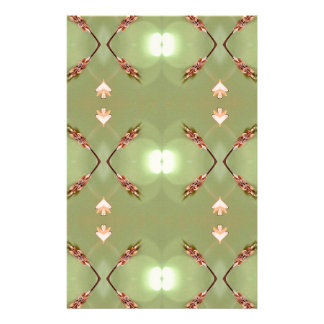 Light Airy Peach Lime Artistic Pattern Stationery Design