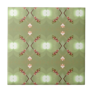 Light Airy Peach Lime Artistic Pattern Tile