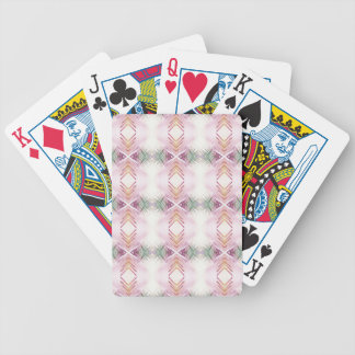 Light Airy Soft Girly Peach Green Fun Pattern Poker Deck