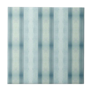 Light Airy Soft pastel Teal Striped Pattern Ceramic Tiles