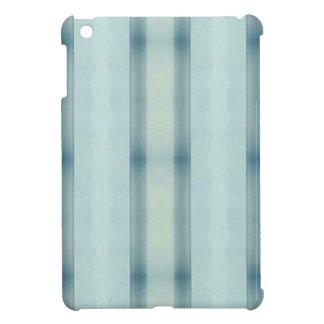 Light Airy Soft pastel Teal Striped Pattern iPad Mini Case