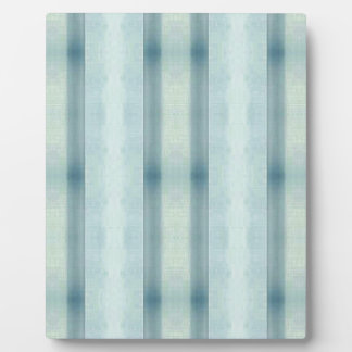 Light Airy Soft pastel Teal Striped Pattern Plaque