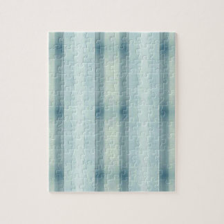 Light Airy Soft pastel Teal Striped Pattern Puzzles