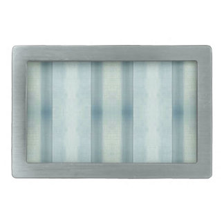 Light Airy Soft pastel Teal Striped Pattern Rectangular Belt Buckles
