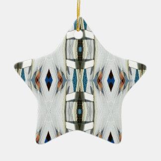Light Airy Southwest Tribal Pattern Ceramic Ornament