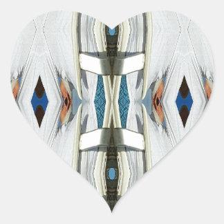 Light Airy Southwest Tribal Pattern Heart Sticker