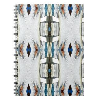 Light Airy Southwest Tribal Pattern Spiral Notebook