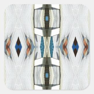 Light Airy Southwest Tribal Pattern Square Sticker