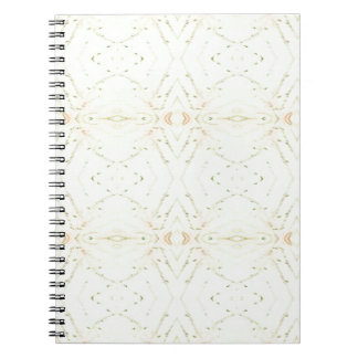 Light Airy White Yellow Background Pattern Notebooks
