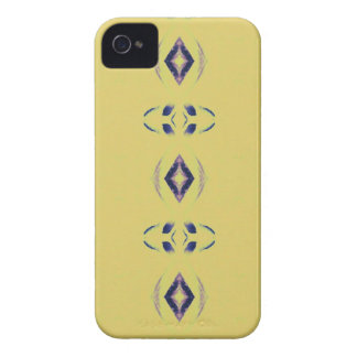 Light &Airy Yellow With Purple Diamond Shapes iPhone 4 Case-Mate Case