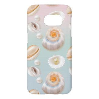 Light Aloha SeaShell Sea Shell Pearl Pattern Samsung Galaxy S7 Case