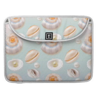 Light Aloha SeaShell Sea Shell Pearl Pattern Sleeve For MacBooks