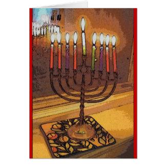 Light amidst darkness Hanukkah notecard