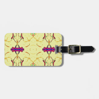 Light and Airy Modern Yellow Pattern. Luggage Tag