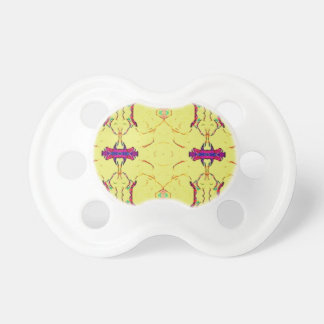 Light and Airy Modern Yellow Pattern. Pacifier
