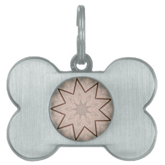 Light and Airy Soft Star Shaped Pattern Pet Tag