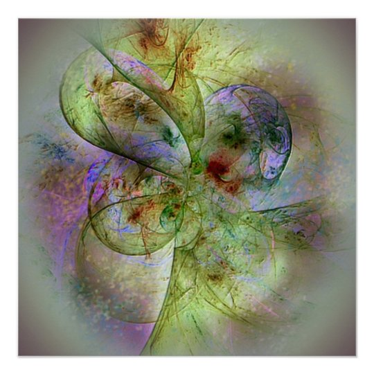 Light and Bright Abstract Painting Poster