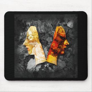 Light and Dark 3 Digital Collage Mousepad