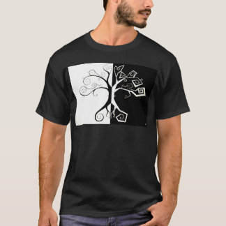 Light and Dark Abstract Art Tree T-Shirt