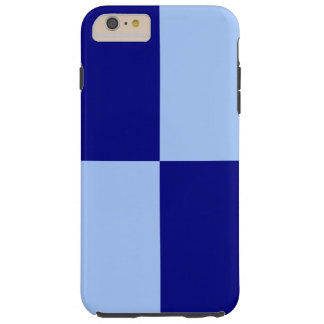 Light and Dark Blue Rectangles iPhone 6 Plus Case