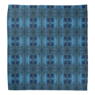 Light And Dark Blue Square Retro Pattern Bandana