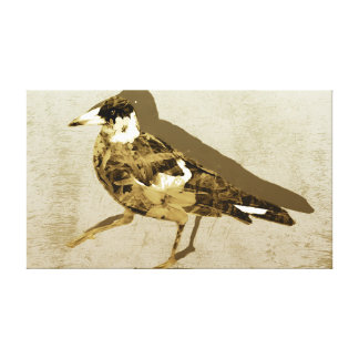 Light and dark brown neutral colors with a Magpie Canvas Print