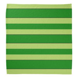 Light And Dark Green Stripes Bandana