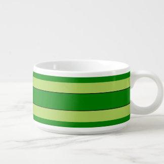 Light And Dark Green Stripes Bowl