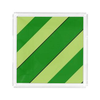 Light And Dark Green Stripes Perfume Tray