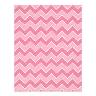 Light and Dark Pink Chevron Pattern Scrapbook Page