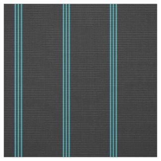 Light and Dark Turquoise Stripe on Gray Fabric