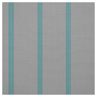 Light and Dark Turquoise Stripe on Lighter Gray Fabric